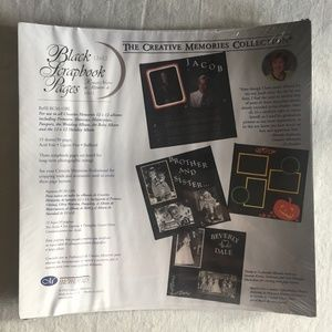 """Creative Memories ~ 12""""x12"""" Black Refill Pages"""